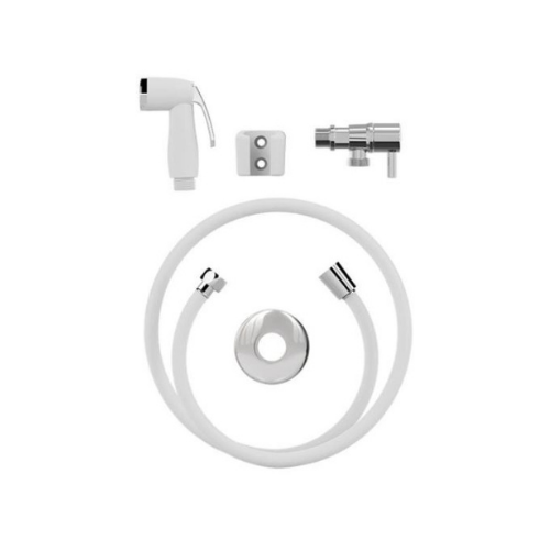 Ducha Higiênica Pop Com Flexível de 1,20m - Branca  - Casa Mattos
