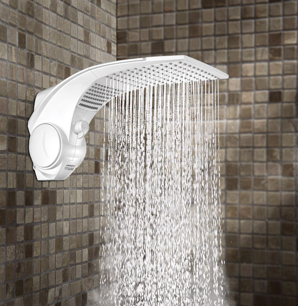 Ducha Lorenzetti Duo Shower Quadra Turbo Multitemperaturas 220V/7500W Branco  - Casa Mattos