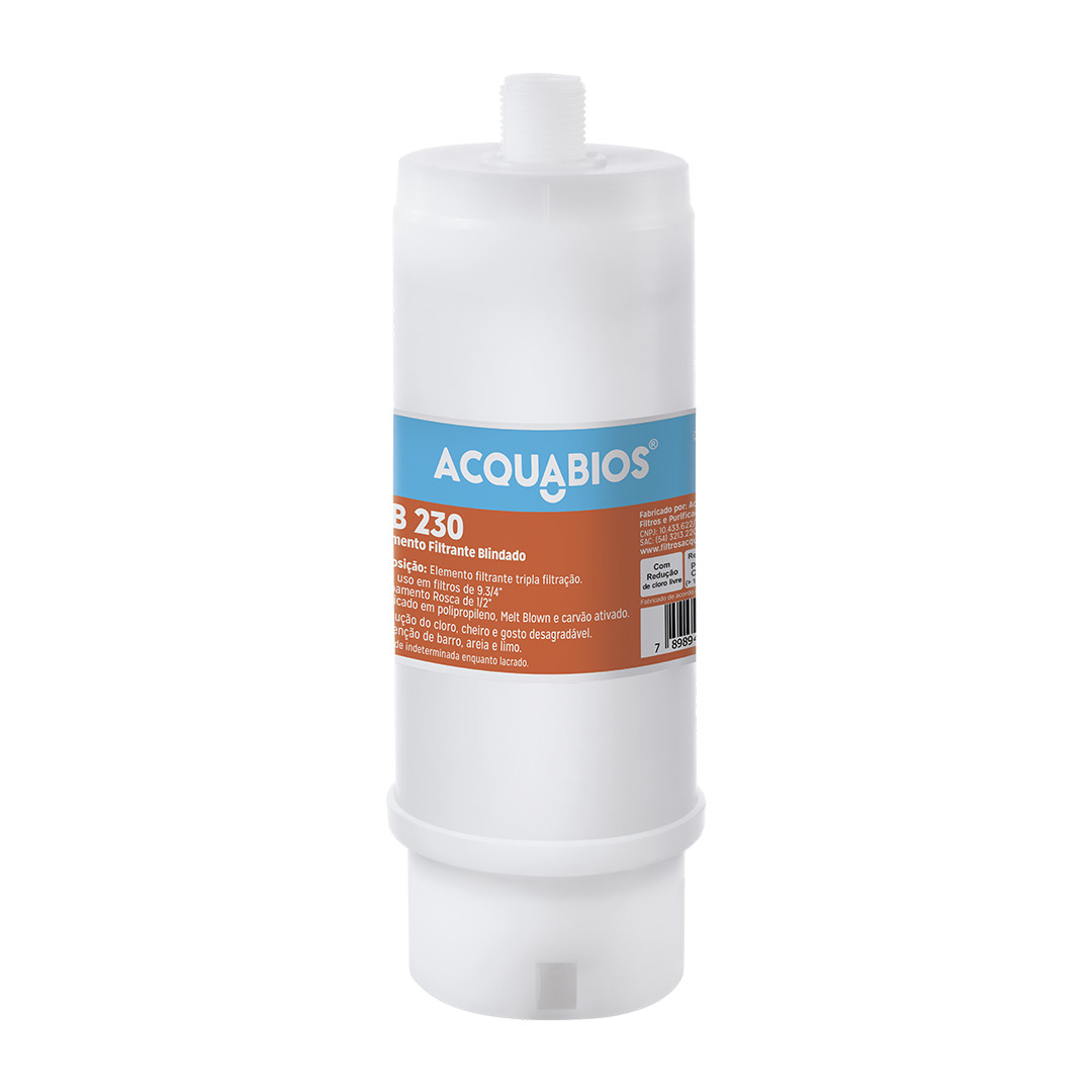 Elemento Filtrante Acquabios Blindado AB230  - Casa Mattos