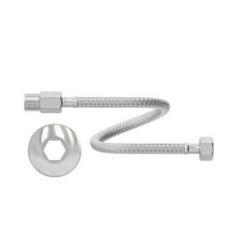 Engate Flexível de Aço Inoxidável 60Cm   - Casa Mattos