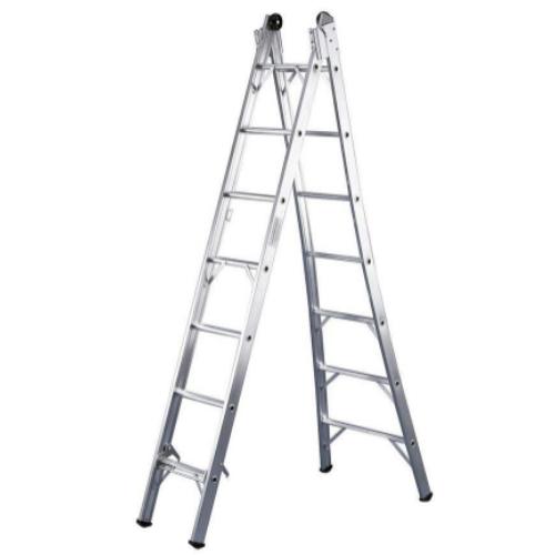 Escada de Abrir Extensiva 8 Degraus P008 - Alumínio