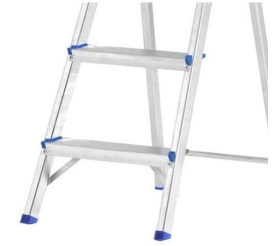 Escada Doméstica Prima Com 5 Degraus Em Alumínio   - Casa Mattos