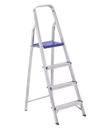 Escada Prima Doméstica 4 Degraus Alumínio