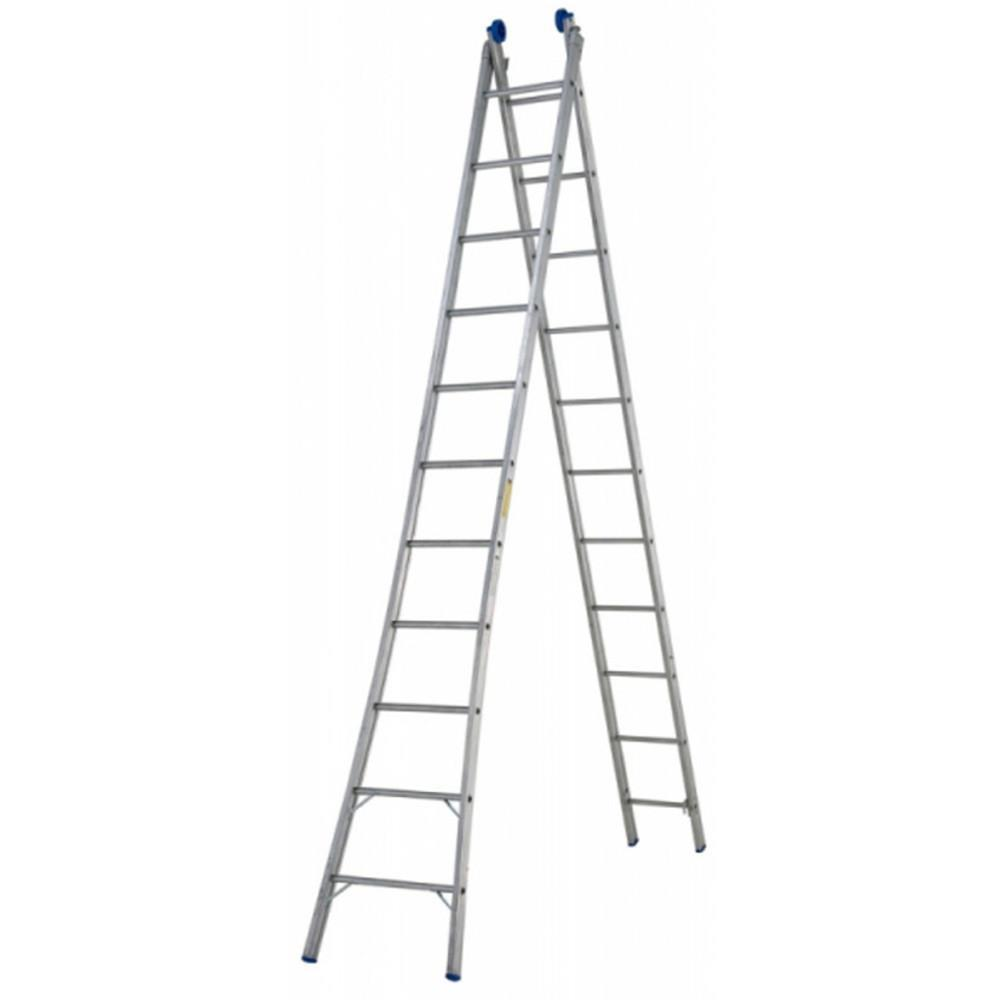 Escada SBA de Abrir Extensiva 11 Degraus P311 Alumínio