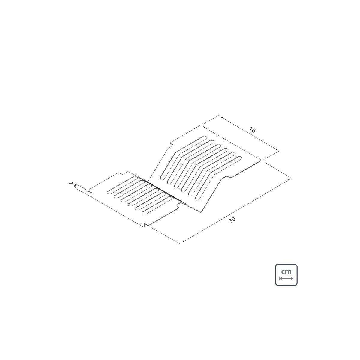 Escorredor Tramontina Scotch Brite 94534/015 em Aço Inox 30x15cm  - Casa Mattos