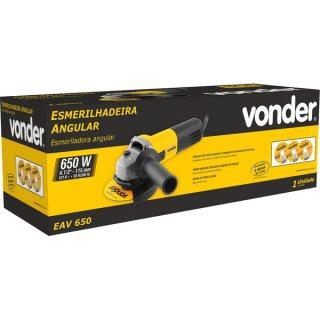 """Esmerilhadeira Angular Vonder 4.1/2"""", EAV 650 com Disco 110v  - Casa Mattos"""