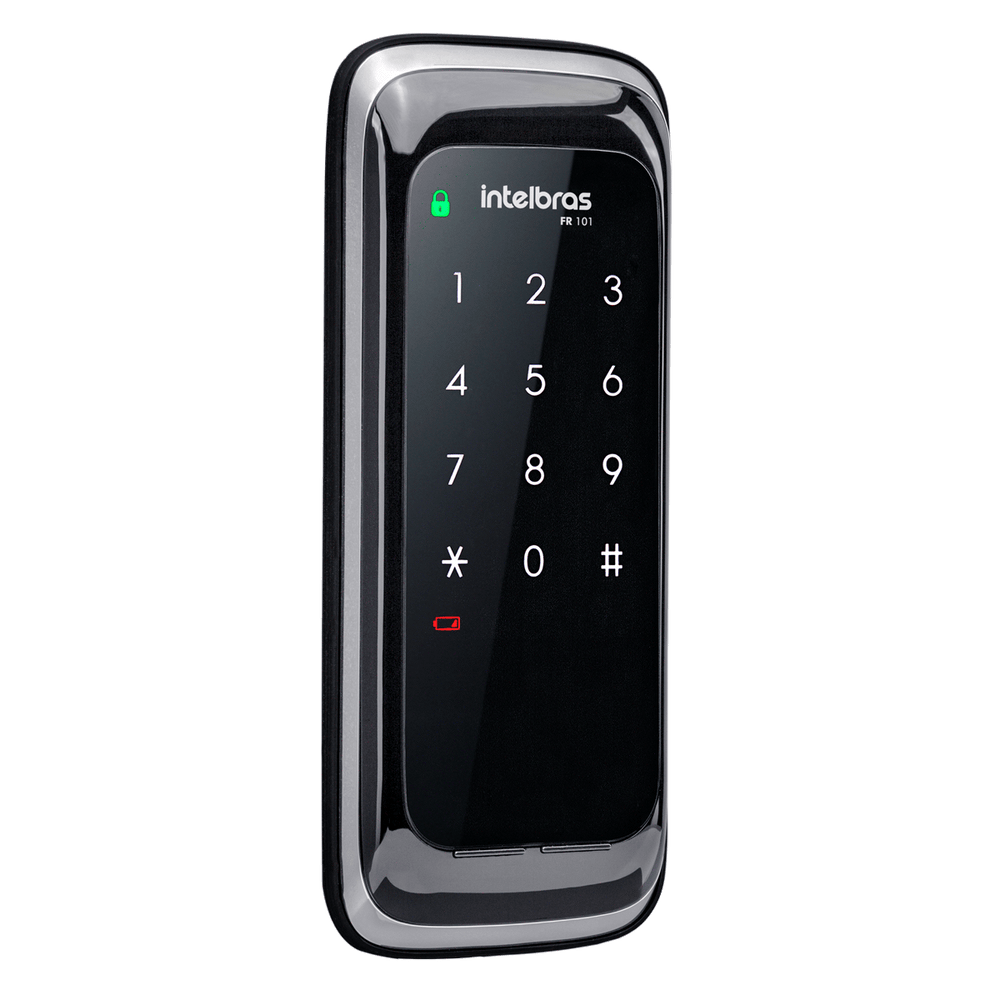 Fechadura Digital Intelbras FR 101 Preto  - Casa Mattos