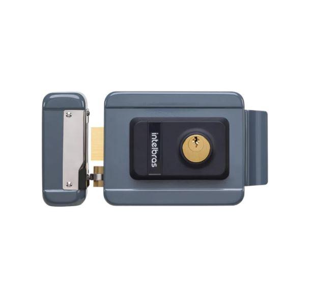 Fechadura Elétrica Intelbras de Cilindro Fixo FX 2000 Cinza