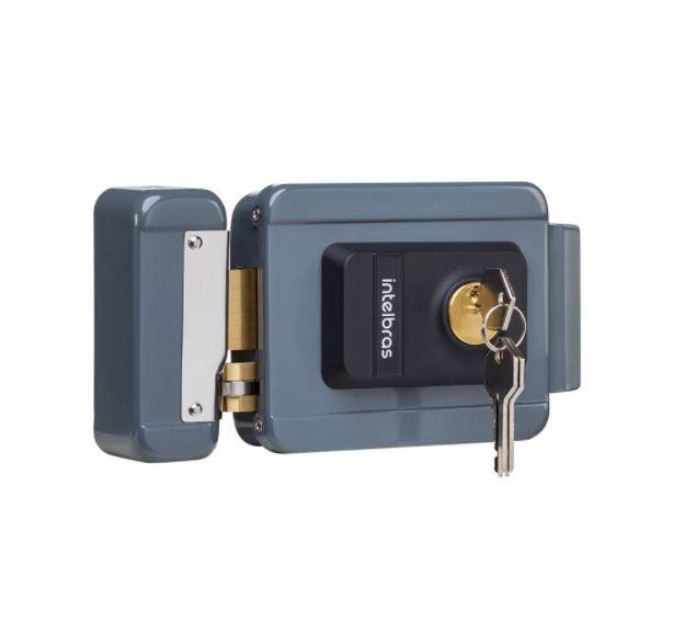 Fechadura Elétrica Intelbras de Cilindro Fixo FX 2000 Cinza  - Casa Mattos