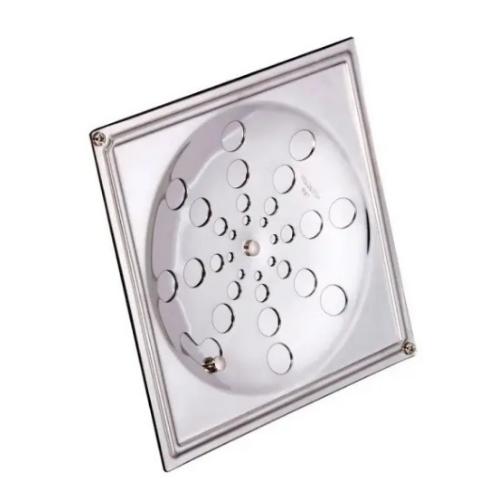 Grelha Inox 10x10 Quadrada com Caixilho 118A Moldenox  - Casa Mattos