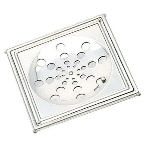 Grelha Inox Quadrada com Caixilho 15x15 G19-a