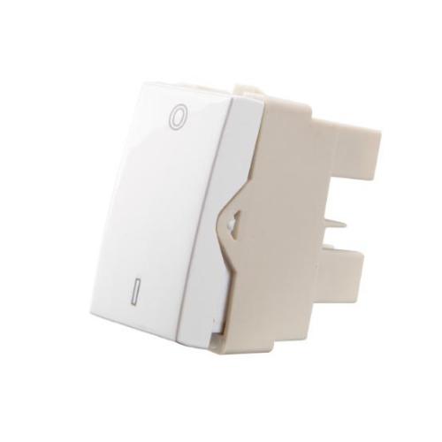 Modulo interruptor Bipolares Simples 25a 250v  Branco