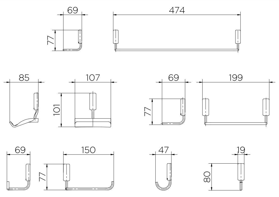 Kit Acessórios para Banheiro Docol 5 peças Idea  00586306 Cromado  - Casa Mattos