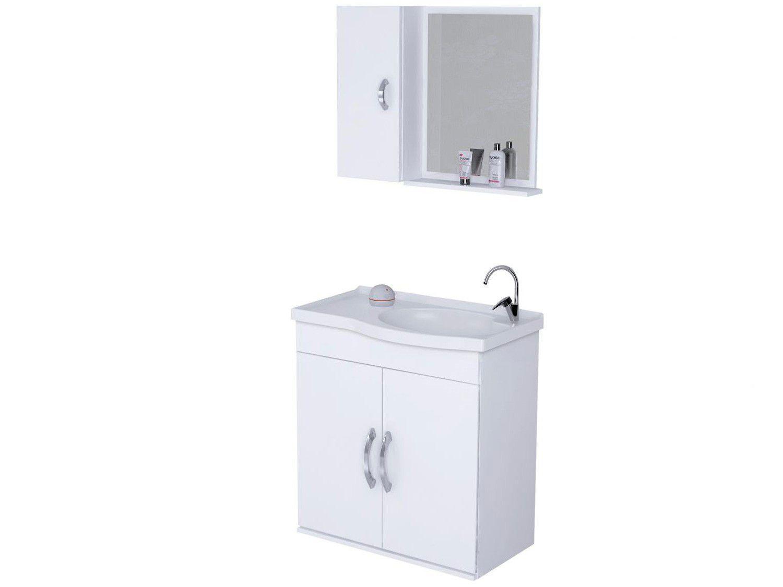 Kit Armário Suspenso Rorato Verona 579002 55,5cm com Espelho Branco