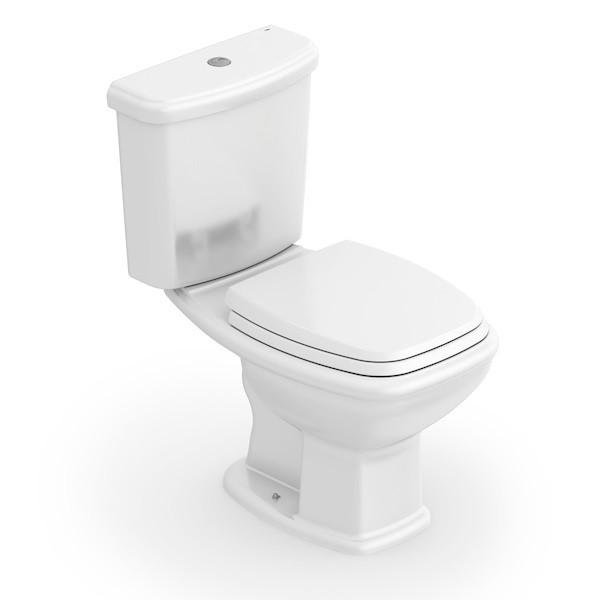 Kit Bacia Sanitária com Caixa Acoplada Fit Plus + Assento Soft Close
