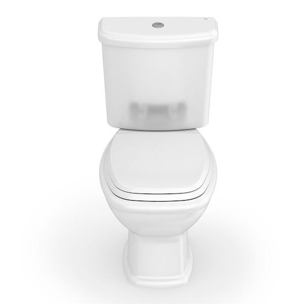 Kit  Celite Vaso Sanitário com Caixa Acoplada Fit Plus + Assento Soft Close Branco  - Casa Mattos