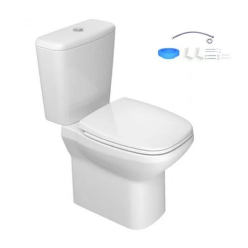 Kit Completo Flex Bacia com Caixa Assento e Fix - Branco  - Casa Mattos