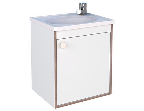 Kit de Banheiro Cozimax 38cm em Madeira Pérola Branco  - Casa Mattos