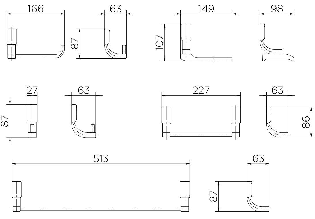 Kit de Acessórios Docol Top 00552906  Cromado  - Casa Mattos
