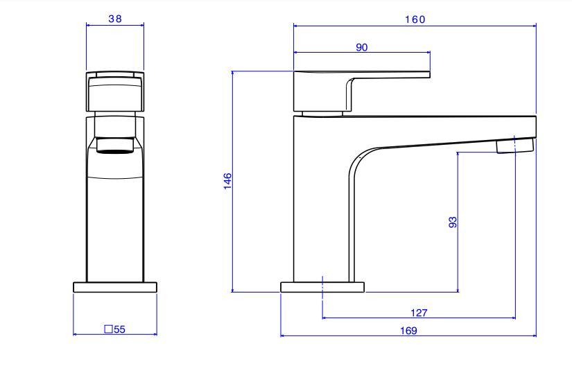 Kit de Torneira de Mesa e Acabamento de Registro Deca Level 1197.C26.KIT1 para Lavatório  - Casa Mattos