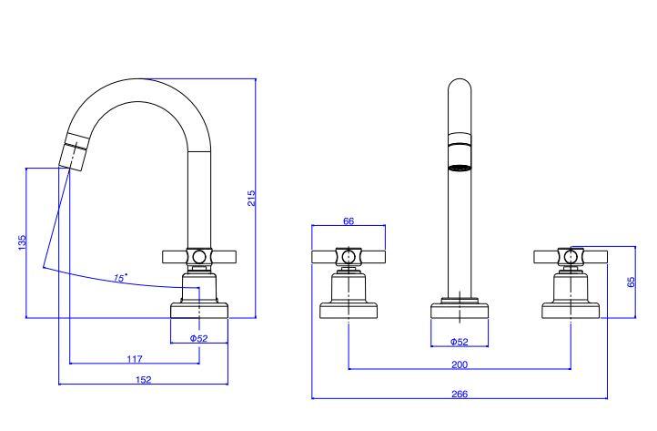 Kit Misturador de Mesa e Acabamento de Registro Deca Izy 1877.C37.KIT2 para Lavatório  - Casa Mattos