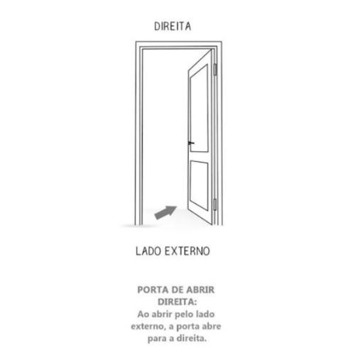 Kit Porta Com Batente Neblina 215Cm x 85Cm MGM - Mogno  - Casa Mattos