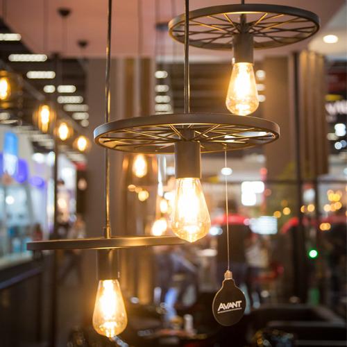 Lâmpada Avant Retro Pera de LED ST64 4W Bivolt Amarela  - Casa Mattos