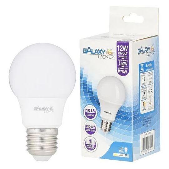 Lâmpada Bulbo de Led Galaxy 1010R 12W E27 Bivolt Branca  - Casa Mattos