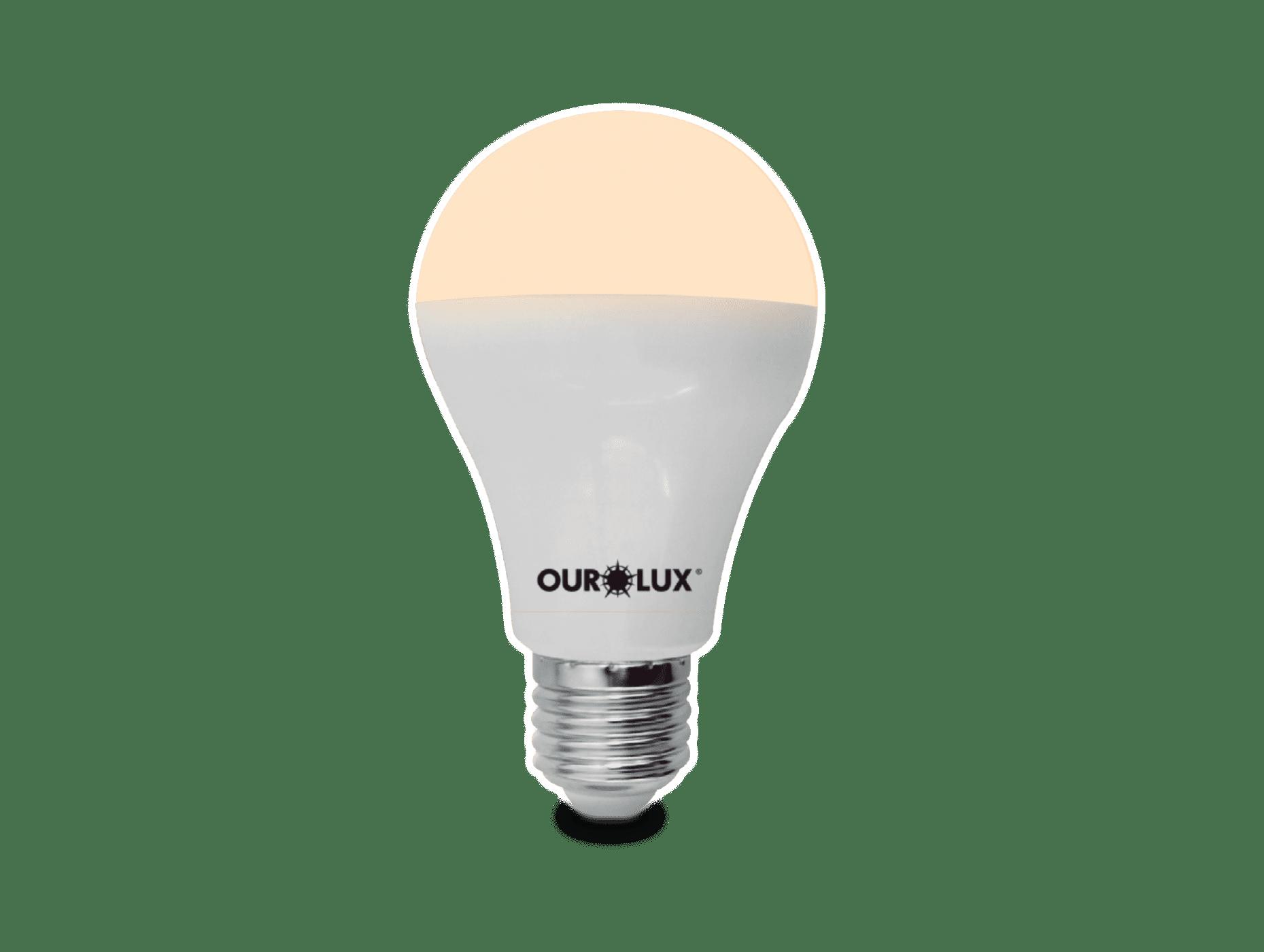 Lâmpada Ourolux Superled 12W Bivolt Branca  - Casa Mattos