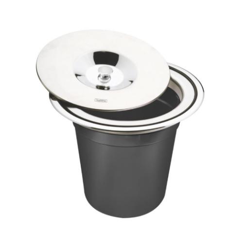 Lixeira de Embutir Clean 5L Inox