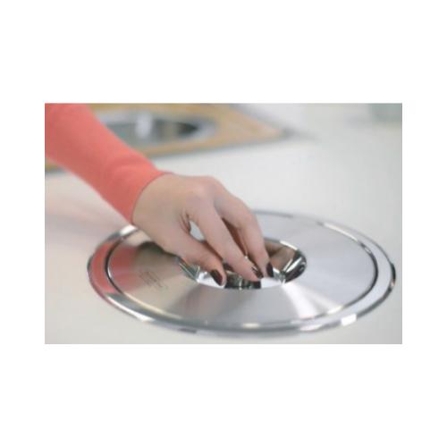 Lixeira de Embutir Clean 5L Inox  - Casa Mattos