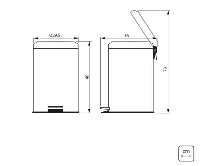 Lixeira  Tramontina Aço Inox 20L com Pedal 94538/120  - Casa Mattos