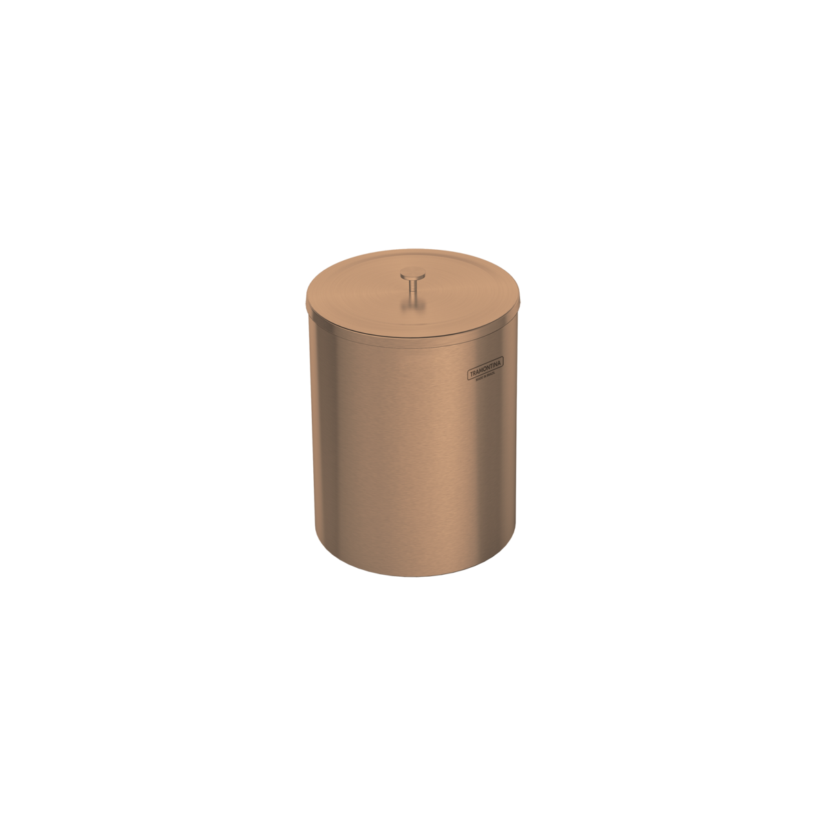 Lixeira Tramontina Útil 94540/053 em Aço Inox Scotch Brite com Revestimento a Base de Verniz Rose Gold 5 L  - Casa Mattos