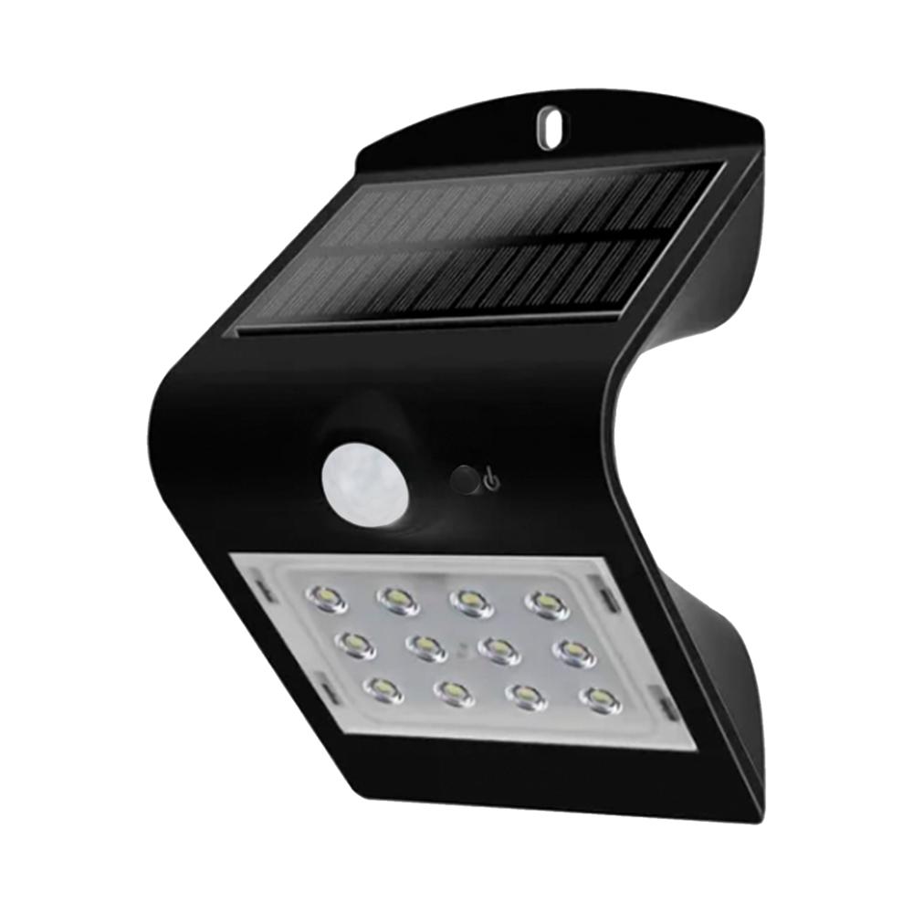 Luminária Arandela Solar Led Kian 15503 1,5W Preta