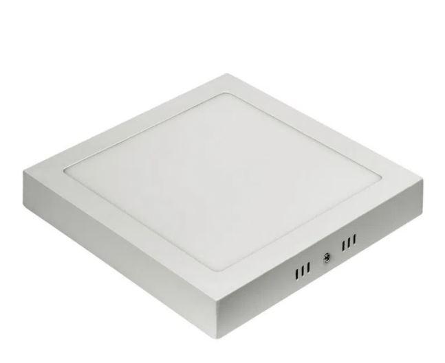 Luminária de Led Plafon Galáxy 2058S de Sobrepor Quadrado 12W Branco
