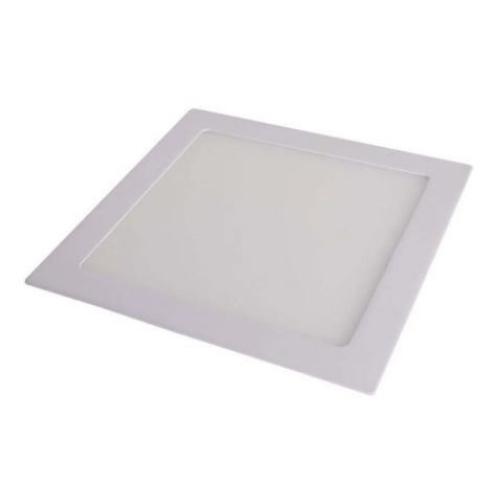 Luminária Slim Led Quadrada 8w Bivolt 6500k - Branca