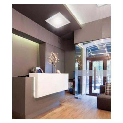 Luminária Slim Led Quadrada 8w Bivolt 6500k - Branca  - Casa Mattos