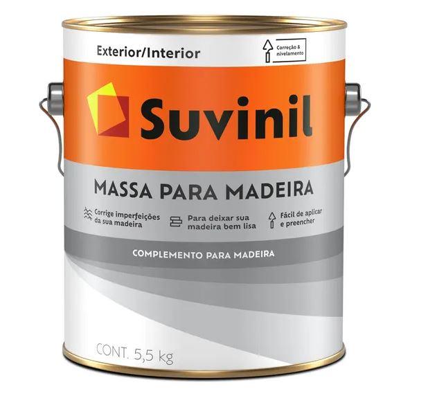 Massa para Madeira Suvinil Galão 5,5L