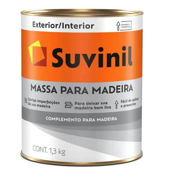 Massa para Madeira Suvinil Litro 1,3L
