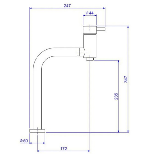 Misturador de Mesa para Lavatório Monocomando Ref: 2886 Link - Cromado  - Casa Mattos