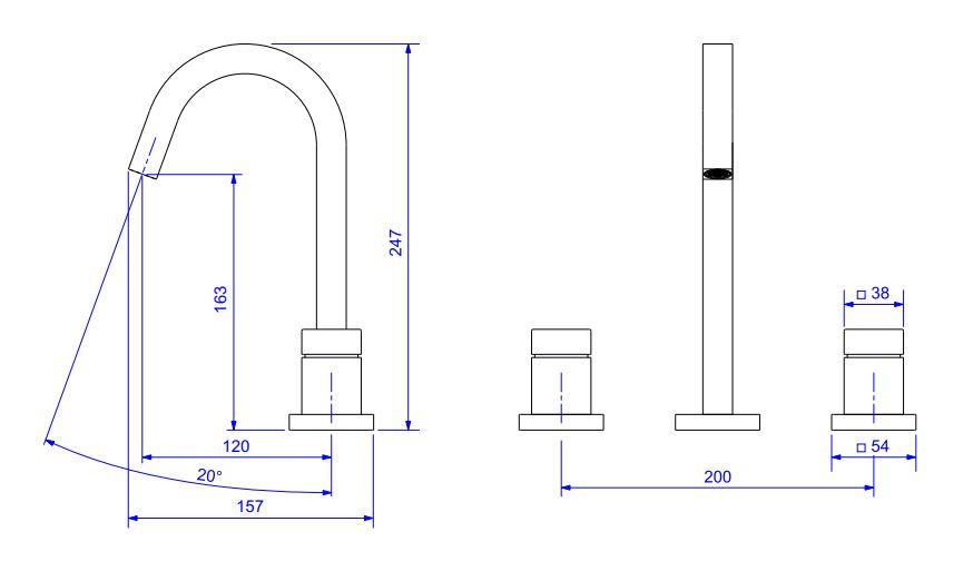 Misturador Deca Cubo de Mesa Bica Alta Para Lavatório 1877.C86 Cromado  - Casa Mattos