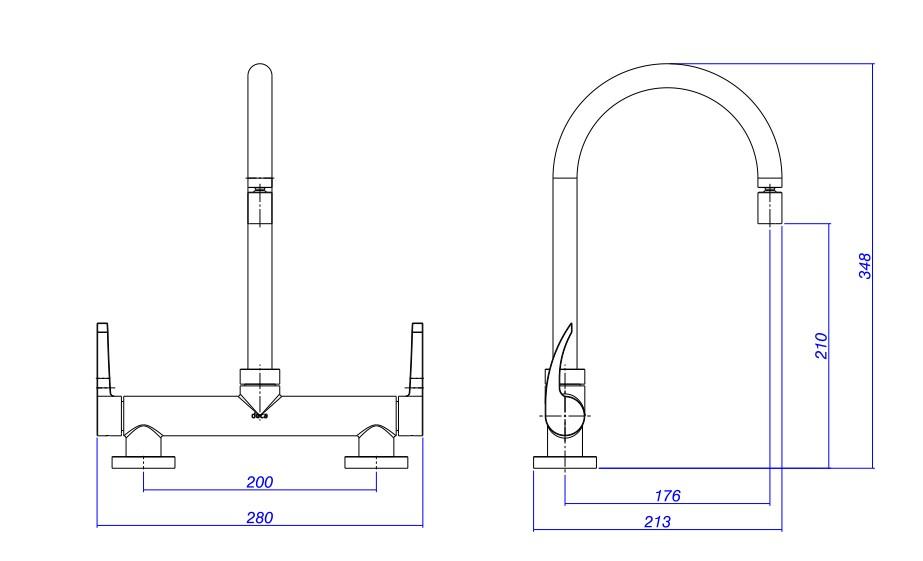 Misturador Deca Para Cozinha Fast 1256.C59  Cromado  - Casa Mattos