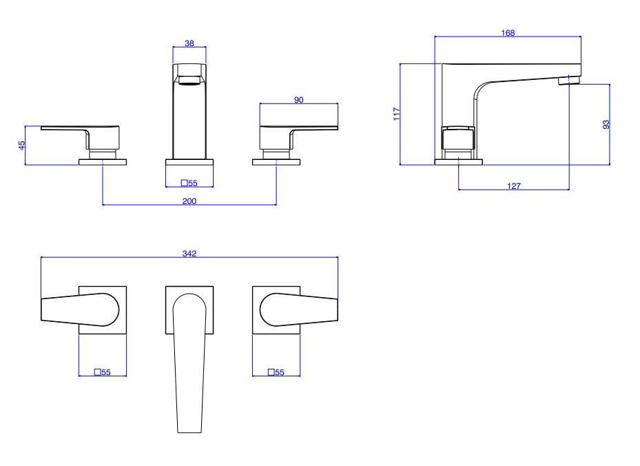 Misturador Deca Para Lavatório De Mesa Bica Baixa Level 1875.C26  Cromado   - Casa Mattos