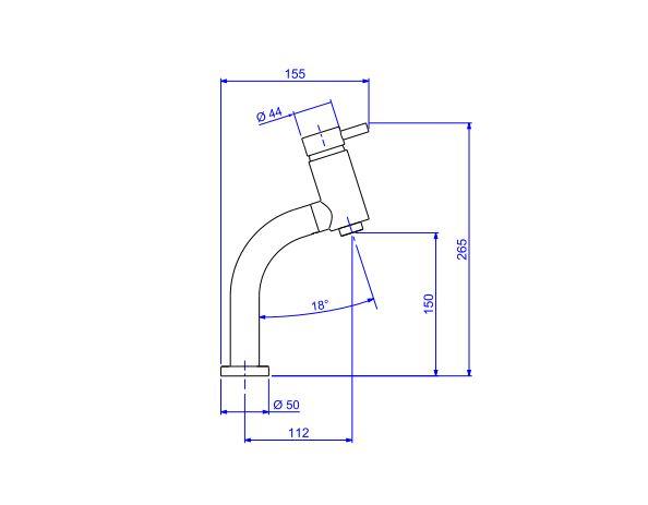 Misturador Monocomando Deca Link 2875.C.LNK para Lavatório De Mesa Bica Baixa  - Casa Mattos