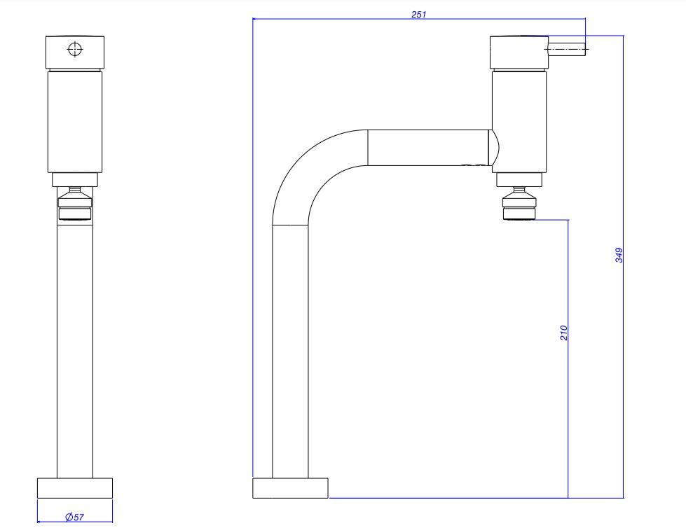 Misturador Monocomando Deca para Cozinha Link 2256.C.LNK Cromado  - Casa Mattos