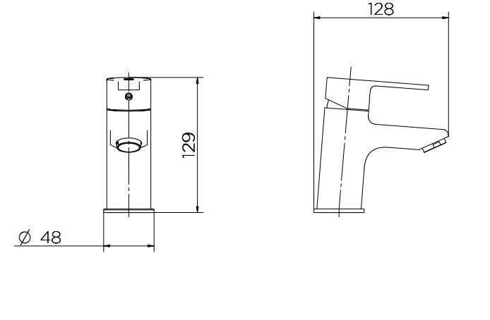Misturador Monocomando Docol Gali 00934406 de Mesa para Lavatório Cromado  - Casa Mattos