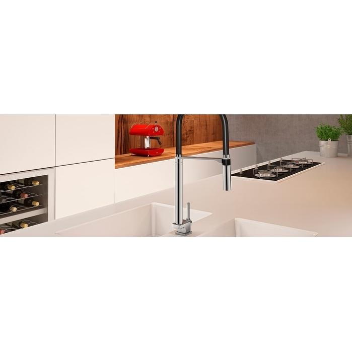 Misturador Monocomando Docol Para Cozinha DOC De Mesa Cromado/Preto 00695757  - Casa Mattos