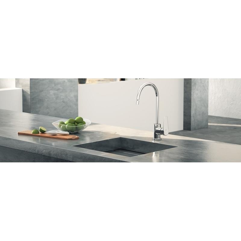 Misturador Monocomando Docol para Cozinha  Lift de Mesa Bica Alta 00796206  cromado  - Casa Mattos