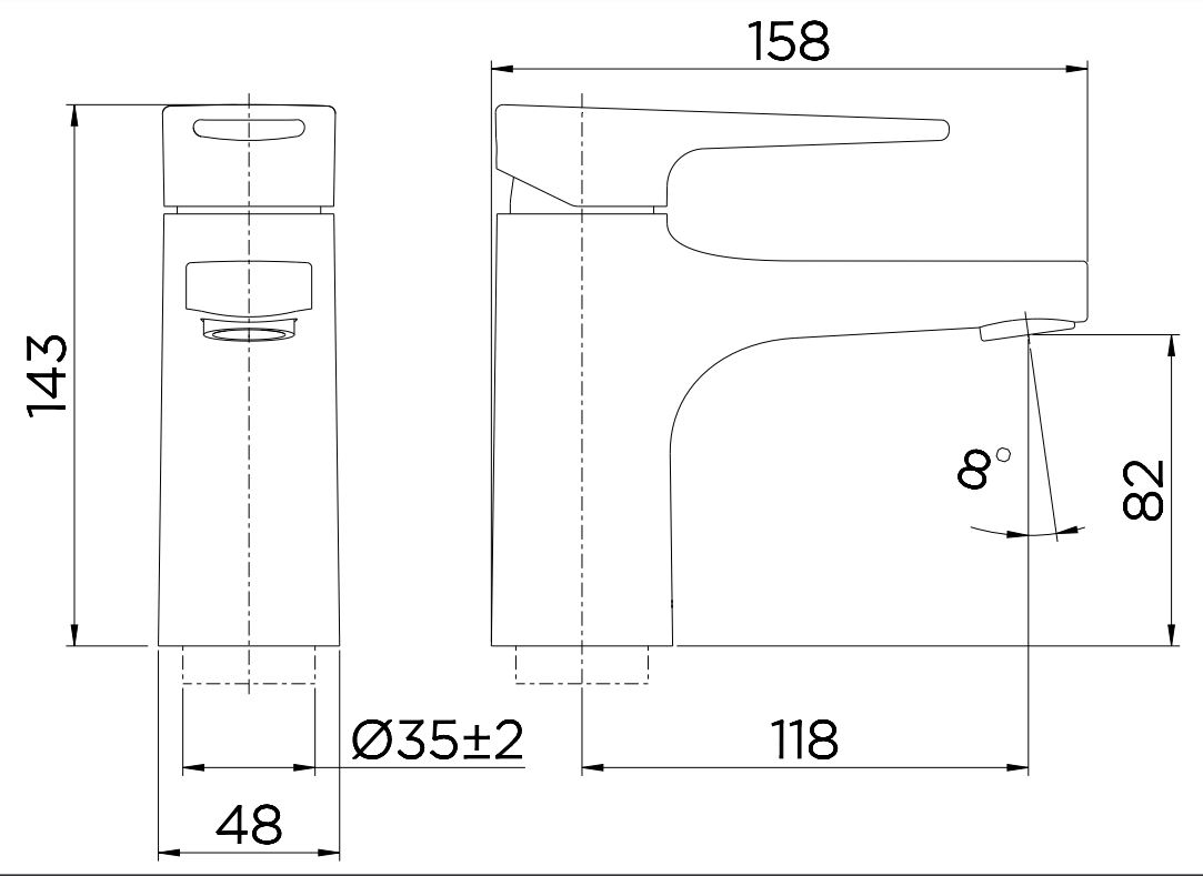 Misturador Monocomando Docol para Lavatório Lift  de Mesa 00795906 Cromado  - Casa Mattos