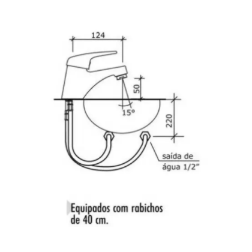Misturador Monocomando para Lavatório Ref: 2875 Civic - Cromado  - Casa Mattos